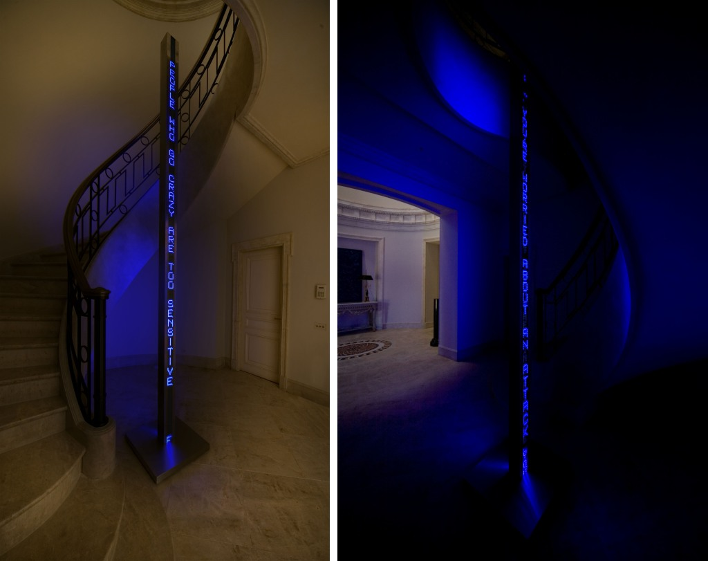 Jenny Holzer Blue Tower duo